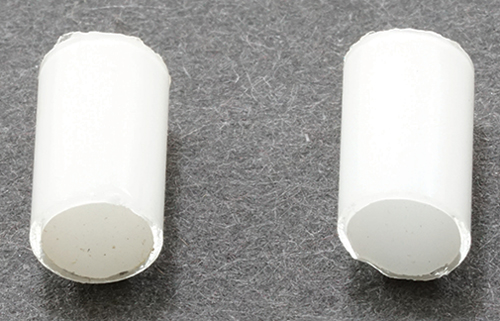 Dollhouse Miniature White Replacement Tubes, 6/Pk
