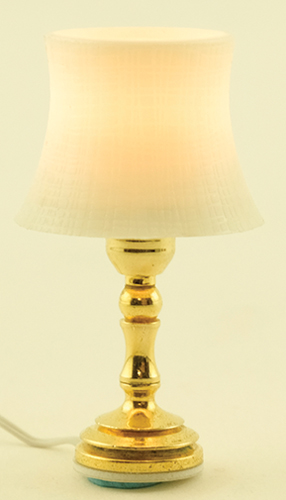 Dollhouse Miniature Beveled Shade Table Lamp