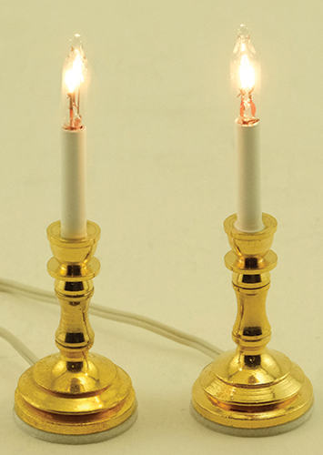 Dollhouse Miniature Candlesticks, 2/Pk