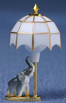 Dollhouse Miniature Child's Lamp, Elephant