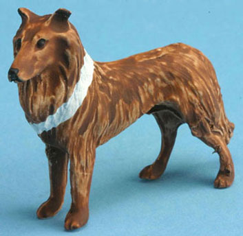 Dollhouse Miniature Collie