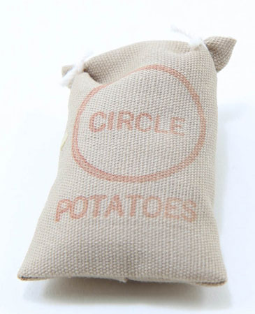 Dollhouse Miniature Sack Of Potatoes