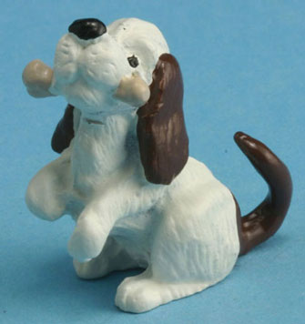 Dollhouse Miniature Dog with Bone