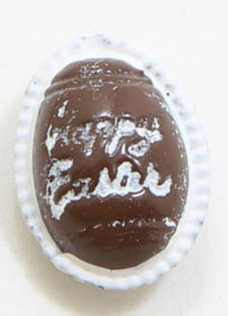 Dollhouse Miniature Chocolate Easter Egg