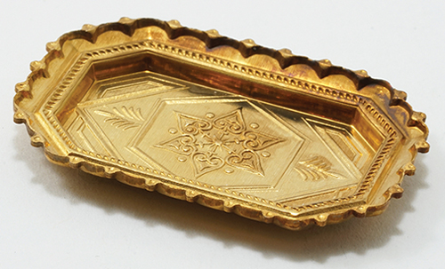 Dollhouse Miniature Brass Tray