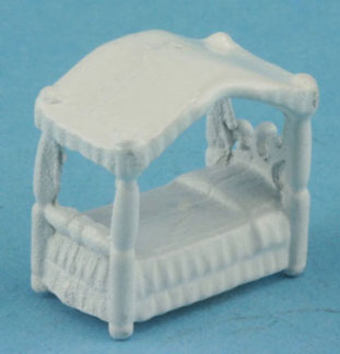 Dollhouse Miniature Canopy Bed