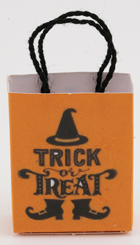 Dollhouse Miniature Trick Or Treat Bag Empty