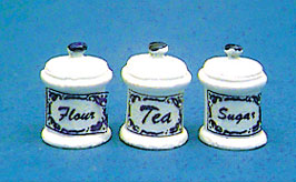 Dollhouse Miniature Canister Set