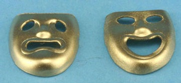 Dollhouse Miniature Comedy and Tragedy Masks