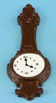 Dollhouse Miniature Banjo Clock-Brown