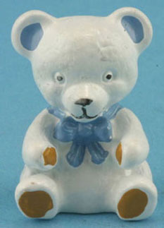 Dollhouse Miniature White Bear