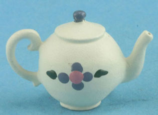 Dollhouse Miniature Country Teapot