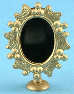 Dollhouse Miniature Vanity Mirror Gold