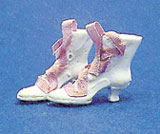 Dollhouse Miniature Fancy High Button Shoes