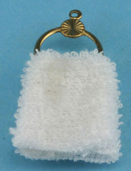 Dollhouse Miniature Towel Holder with Towel