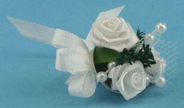 Dollhouse Miniature Bridal Bouquet