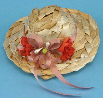Dollhouse Miniature Country Straw Hat