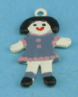 Dollhouse Miniature Country Doll Ornament