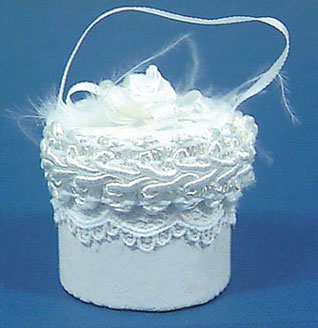 Dollhouse Miniature Wedding Hat Box