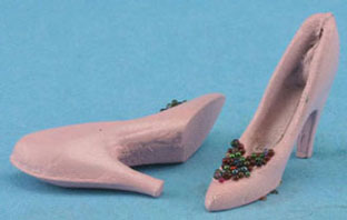 Dollhouse Miniature Bridesmaid Shoes Assorted