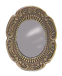 Dollhouse Miniature Antiqued Mirror