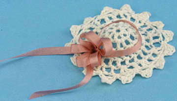 Dollhouse Miniature Victorian Lace Hat with Bow