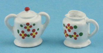 Dollhouse Miniature Sugar and Creamer