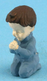 Dollhouse Miniature Boy Praying