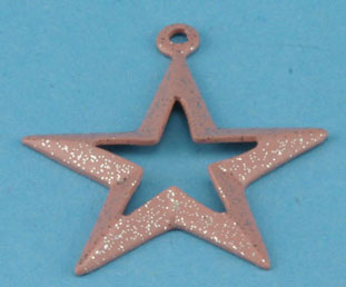 Dollhouse Miniature Star with Sparkles