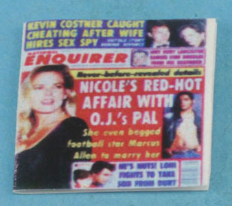 Dollhouse Miniature National Enquirer