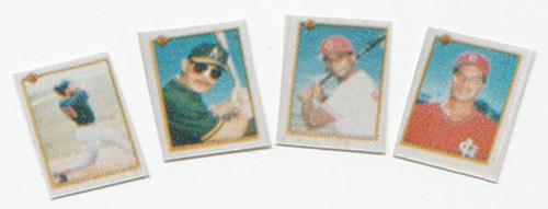 Dollhouse Miniature Baseball Cards