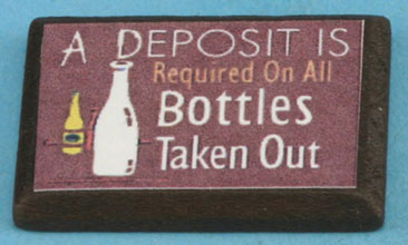 Dollhouse Miniature Milk Bottle Sign
