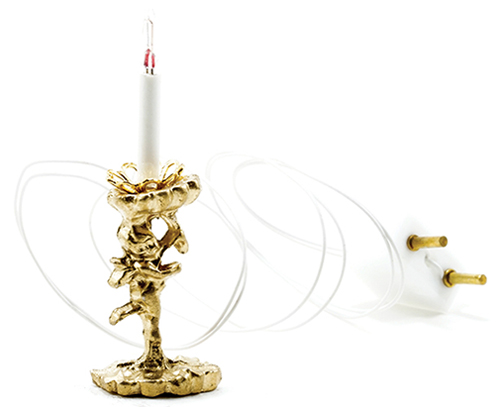 Dollhouse Miniature Cupid with Candle