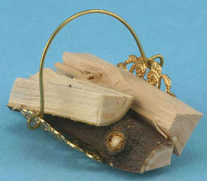 Dollhouse Miniature Log Cradle