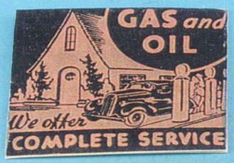Dollhouse Miniature Gas Station Sign