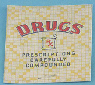 Dollhouse Miniature Drug Store Sign