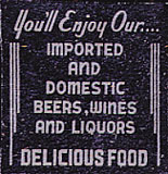 Dollhouse Miniature Beer/Wine Sign