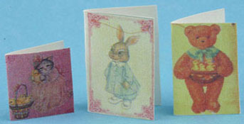 Dollhouse Miniature Easter Cards 3Pcs.