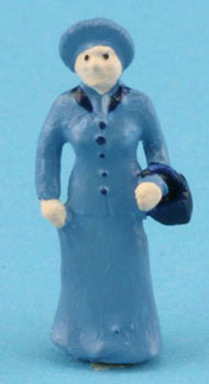 Dollhouse Miniature Old Fashioned Woman