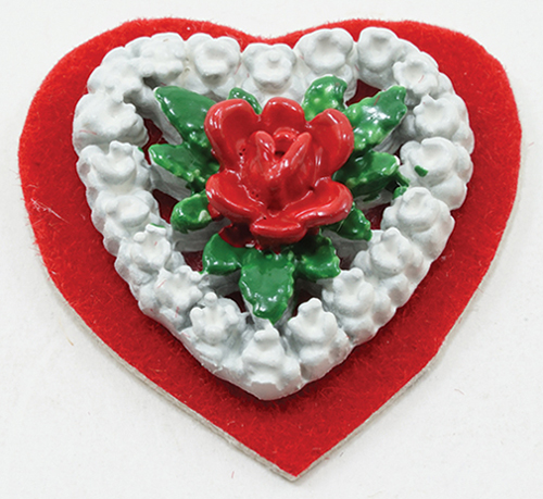 Dollhouse Miniature Faux Heart Box
