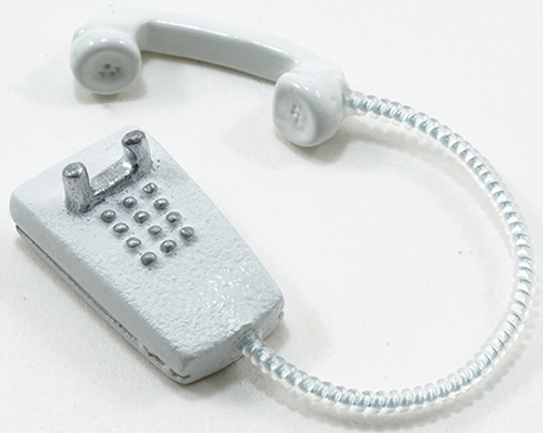 Dollhouse Miniature Modern Wall Phone