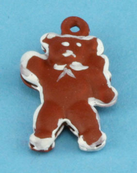 Dollhouse Miniature Gingerbread Bear Ornament