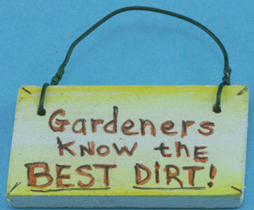 Dollhouse Miniature Garden Sign with Hanger