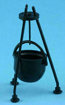 "Dollhouse Miniature Cauldron 3 1/4"" Scale"