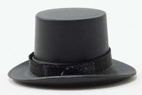 Dollhouse Miniature Top Hat Black