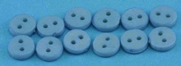 Dollhouse Miniature Buttons 4 mm Blue 12Pcs