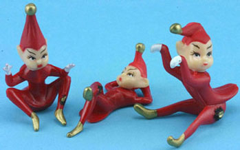 Dollhouse Miniature Red Elves 3