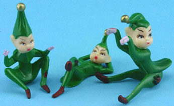 Dollhouse Miniature Green Elves 3