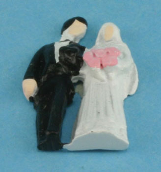 Dollhouse Miniature Bride and Groom-Mini