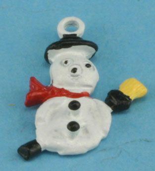 Dollhouse Miniature Snowman Tree Ornament